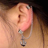 Unique Anchor Tassels Ear Clip-on Stud Earring