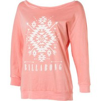 Billabong Tribal Love Shirt - 3/4-Sleeve - Women's Peachy Keen, S