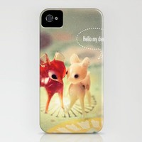 hello my deer iPhone Case by Rachel Bellinsky | Society6