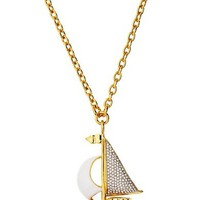 Large Sailboat Pendant Necklace