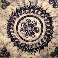 Flower Batik Tapestry Single