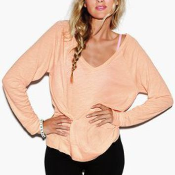 Long Sleeve V-Neck Raglan Tee - Victorias Secret PINK - Victoria's Secret