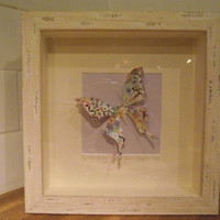 3D Paper Art - Papillion Study - A Stylish Large Handcrafted Paper Butterfly - Perfect for Home Decoration