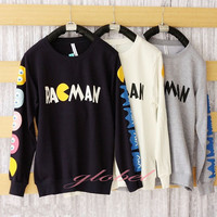 Cute Girls Sweater Korean Cartoon Coat Thickening Sweatshirt Pullover Autumn Top