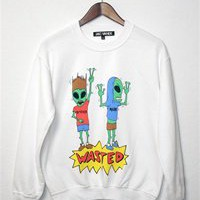 WASTED ALIENS Unisex Crew Neck Sweatshirt
