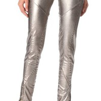 Faith Connexion Lizy Metallic Denim Pants | SHOPBOP