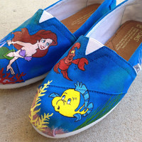 Custom Hand Painted Shoes - Little Mermaid Toms