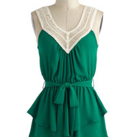 Tangled Up in Green Top | Mod Retro Vintage Short Sleeve Shirts | ModCloth.com