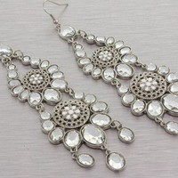 NEW Juliette Silver Crystal Chandelier Earrings