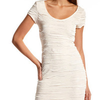 Charlotte Russe - Cap-Sleeve Pucker Dress