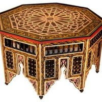 One Kings Lane - Wunderley - Moroccan Painted Coffee Table
