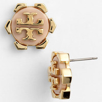 Tory Burch &#x27;Walter&#x27; Logo Stud Earrings | Nordstrom