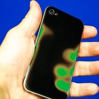 Amazon.com: RF LaserWorks Colour Changing / Heat Sensitive iPhone 4 Backing with Apple cut-out: Cell Phones &amp; Accessories