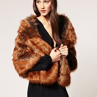 ASOS | ASOS Film Star Stole In Faux Fox Fur at ASOS