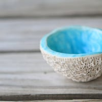 Reef Nesting Dipping Bowls for Kitchen and Home Decor in Tropical Blue by kaytwoclay