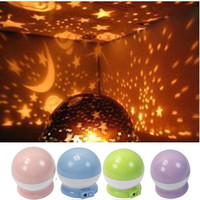 New Beautiful  Rotation Star Sky Romantic Night Projector Light Lamp