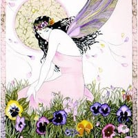 The Pansy Fairy by victoriaholmanart on Zibbet