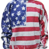 Amazon.com: Flag FR1200 - Frank Allover American Flag Crew Neck Sweatshirt: Clothing