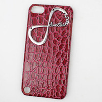 Red Hard Case Cover With One Direction &quot;Directioner&quot; Infinity for Apple Ipod Touch 5, iPod Touch 5th,iTouch 5,iPod Touch 5