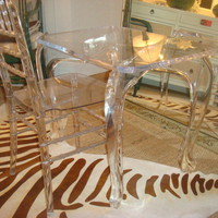 CBell - Furnishing Life - Tables - Vintage Lucite Table