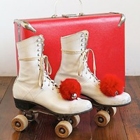 Free People Vintage Rollerskates with Case