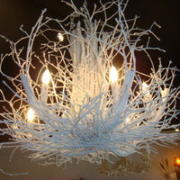 CBell - Furnishing Life - Lighting - White Lacquer Wild Woods Chandelier