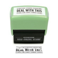 Deal With This Self-Inking Stamp - Funny Stamps by Knock Knock