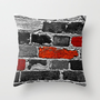 OTHER BRICKS IN THE WALL Throw Pillow by catspaws | Society6
