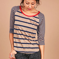 Sailor Trim Top - Trendy Clothes at Pinkice.com