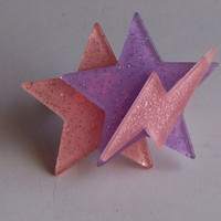 Jem - Glitter Stars and Lightning Bolt Ring