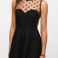 Coincidence &amp; Chance Crepe Mesh Dot Dress