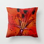 ORANGE LILY Throw Pillow by catspaws | Society6