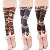 fashion stripe snowflake leggings LG-3 from Fashion Accessories Store