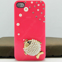 iphone 5 case fish   pearls iphone case iPhone pink case
