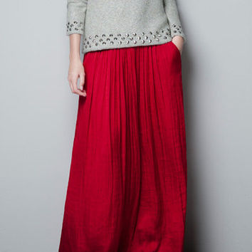 LONG SKIRT WITH POCKETS - Skirts - Woman - ZARA United States