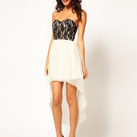 Rare Lace Bodice Hi Lo Skater Dress at asos.com