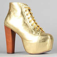 The Lita Shoe in Gold Metallic : Jeffrey Campbell : Karmaloop.com - Global Concrete Culture