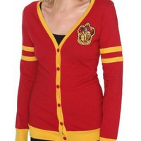 Harry Potter Gryffindor Varsity Girls Cardigan Plus Size Size : XX-Large