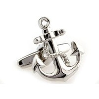 Amazon.com: Cufflinks Silver Anchor Navy Nautical Ship Navy Cuff Links Sailor Yacht USN MRCUFF: Everything Else