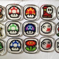 Another Handmade Super Mario Bros Coaster Set |Gadgetsin