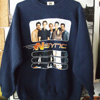 N*SYNC SWEATSHIRT// Vintage 90s Pop Boy Band Sweater M