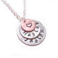 Triple Custom Hand Stamped Name Nec.. on Luulla