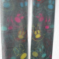 COLORFUL MICKEY Sheer Bows Minnie Mouse Disney Faces Tights Hosiery Stockings