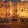 Sheet Music Tea Light Candle Holders Set of 4 by customfavors