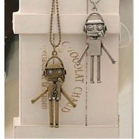 NEW Fashion Robot Shape Pendant Necklace Bronze chain [#00300194] - US$2.13 : Amazplus.com
