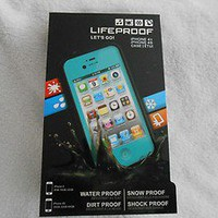 NEW LIFEPROOF TEAL Case for iPhone 4/4s Shock, Water, Dirt and Snow Proof