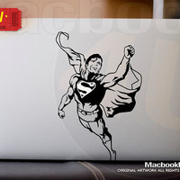 Superman - LIMITED EDITION macbook decal / sticker ( for 11&quot; 13&quot; 15&quot; 17&quot;  or any Laptop) K023
