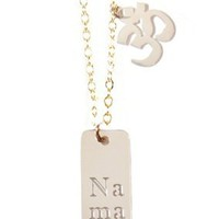 Namaste and OM Necklace