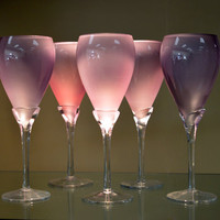 Beautiful Light Lilac Wine Glasses (Set of Ten)