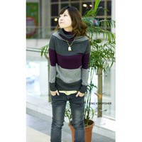 Wholesale The Latest Fashion Color Matching Sweater